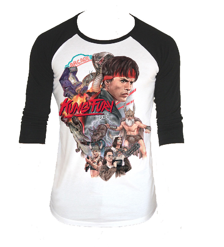 kung fury official baseball tshirt