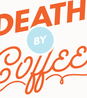 death by coffee funny art print by Kristen Lourie