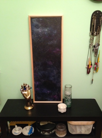 spaced galaxy painting by Kristen Lourie Winnipeg Manitoba