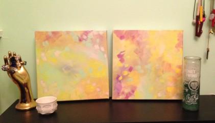 splash dance painting by Kristen Lourie Winnipeg