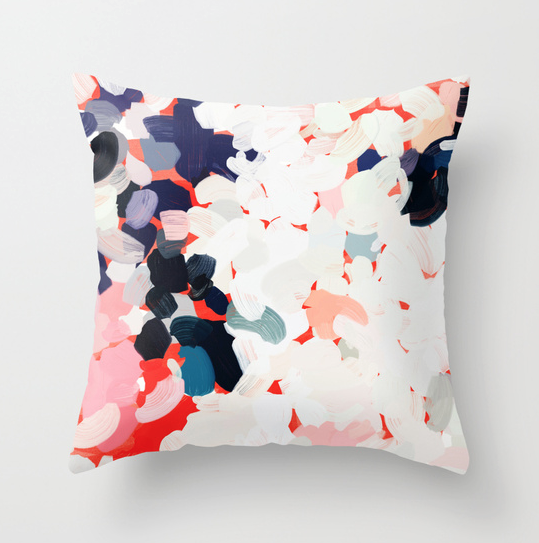 Anita by Patricia Vargas abstract painting pillow case