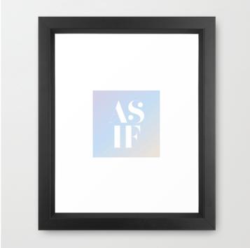 as if clueless print framed