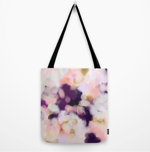 Forty Four tote bag acrylic abstract pastel by Patricia Vargas