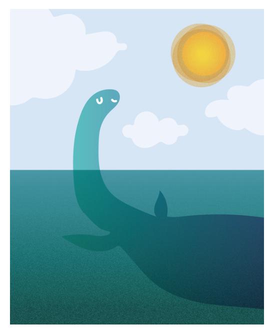 loch ness monster nessie print poster