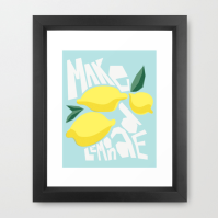 Make Lemonade poster print on Society6 by Kristen Lourie