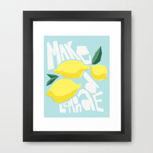 Make Lemonade poster print on Society6 by Kristen Lourie