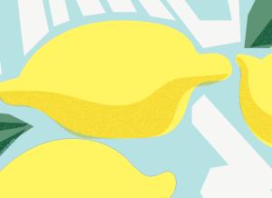Make Lemonade artwork close up detailed image