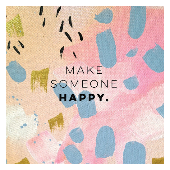 Make someone happy print inspired by Jimmy Durante by Kristen Lourie