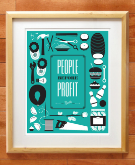 people before profit the north end Winnipeg print by Kristin McPherson