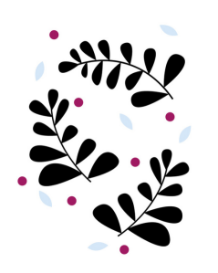 simple fern black berry coloured by Kristen Lourie