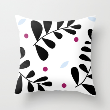 simple fern pillow by Kristen Lourie