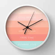 Summer Love clock by Kristen Lourie