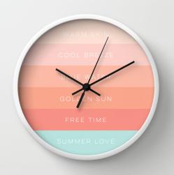 Summer Love clock by Kristen Lourie