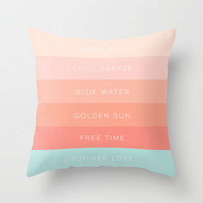 Summer Love designed pillow by Kristen Lourie