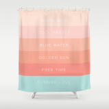 Summer Love shower curtain by Kristen Lourie