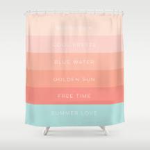Summer Love shower curtain by Kristen Lourie