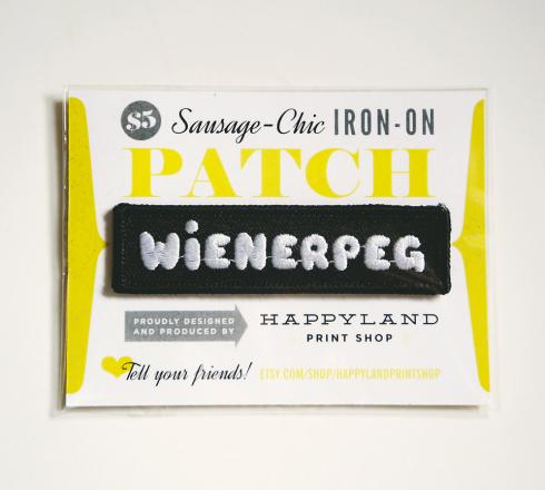 wienerpeg winnipeg patch by Kristin McPherson