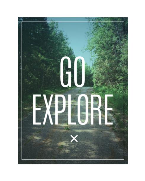 Go Explore wilderness adventure print by Kristen Lourie on Society6