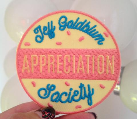 Jeff Goldblum Appreciation Society patch etsy Kodiak Milly