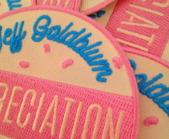 Jeff Goldblum Appreciation Society Patch etsy