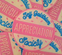 Jeff Goldblum Appreciation Society patch