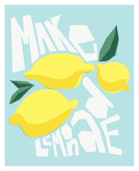 Make Lemonade print by Kristen Lourie on Society6