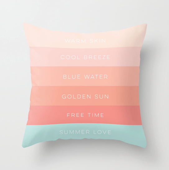 Summer Love pillow on Society6 by Kristen Lourie