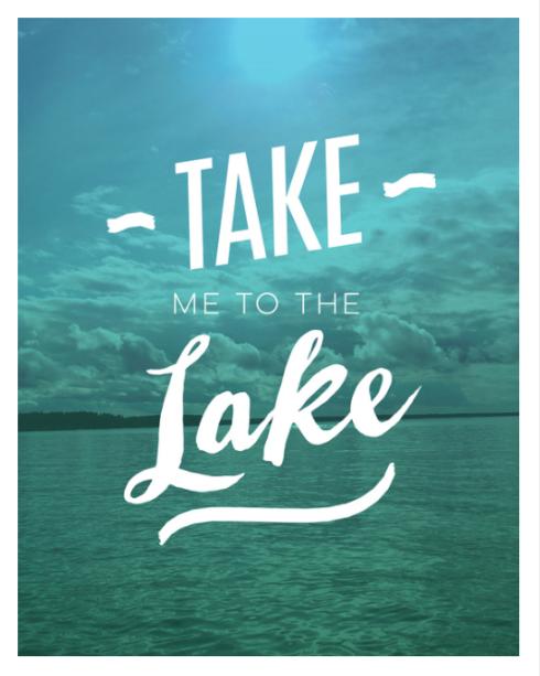 Take Me To The Lake art print on Society6 by Kristen Lourie