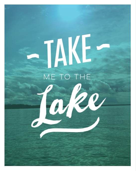 Take Me To The Lake art print on Society6 by Kristen Lourie