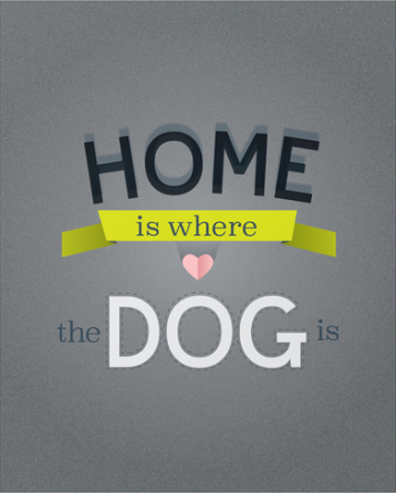 Home Is Where The Dog Is Print Kodiak Milly Kristen Lourie etsy