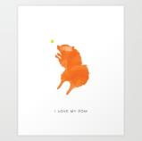 I Love My Pom print by Kodiak Milly Kristen Lourie