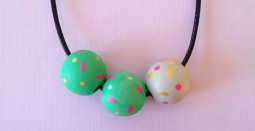 painted bead necklace particle party by kodiak milly