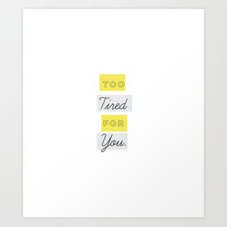 Too Tired Print Set by Kristen Lourie Kodiak Milly 5