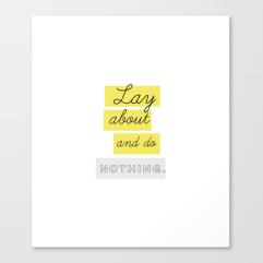 Too Tired Print Set by Kristen Lourie Kodiak Milly