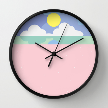 moonrise on the beach clock