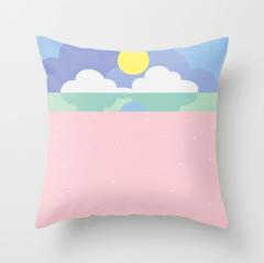 Moonrise on the beach pillow