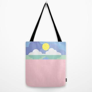 moonrise on the beach tote bag