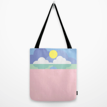 moonrise on the beach tote bag