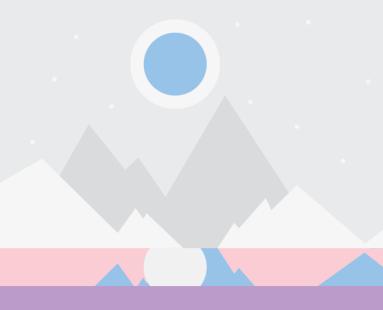 mountain illustration 1990s