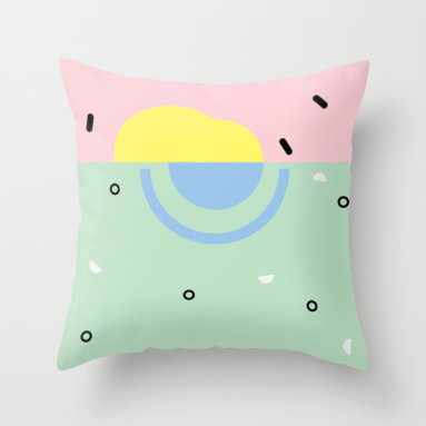 Sunset on Venice Beach pillow by Kodiak Milly Kristen Lourie