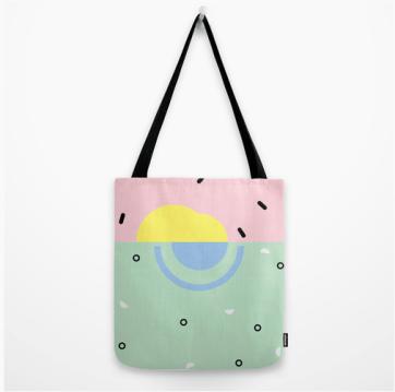 Sunset on Venice Beach tote bag by Kodiak Milly