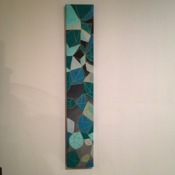 Tall geometric painting - $30