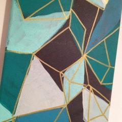 Tall geometric painting - $30