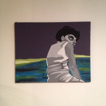 """zombie girl painting, about 24""""x20"""", $30"""
