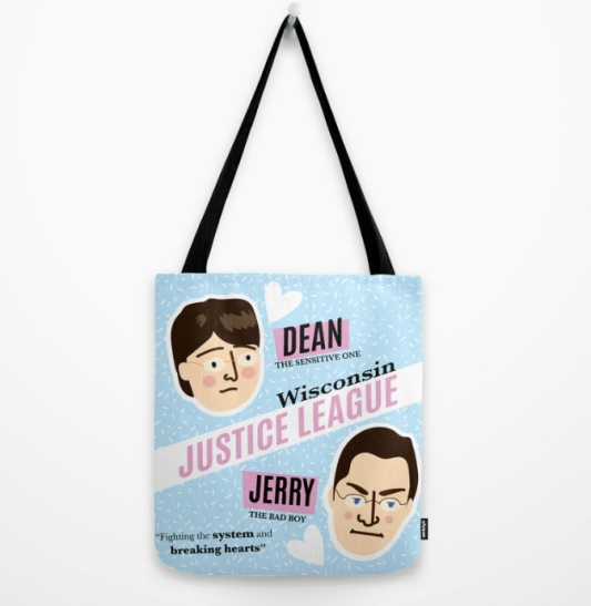 Dean Strang and Jerry Buting Wisconsin Justic League tote bag by Kodiak Milly on Society6