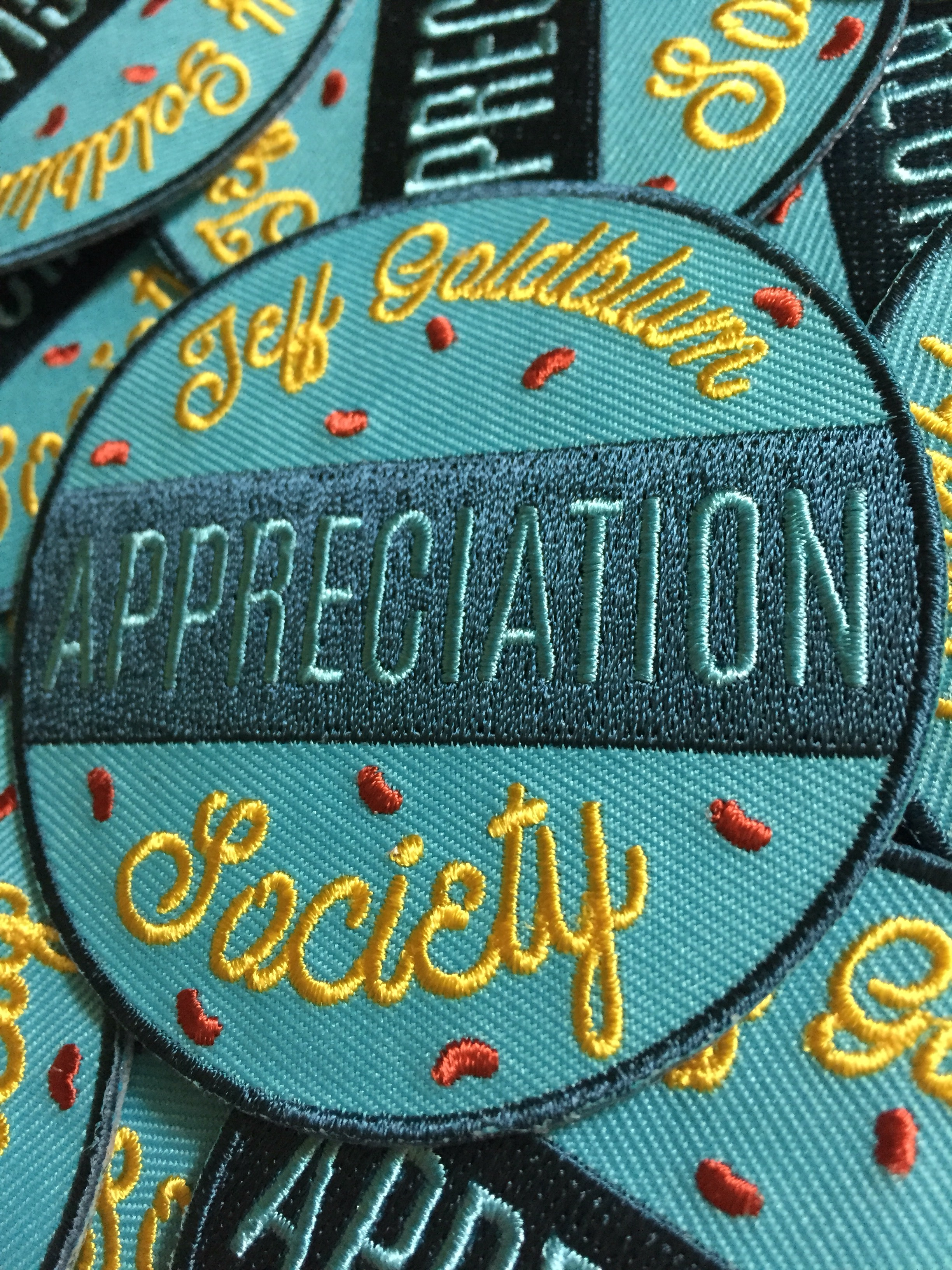 Jeff Goldblum Appreciation Society Patch