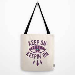 Keep On Keepin' On tote bag in ivory by Kodiak Milly