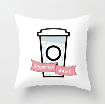 secretly basic throw pillow society6 Kodiak Milly