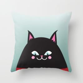 black cat pillow society6 kodiak milly