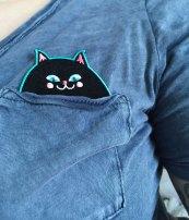 black cat patch 2 by Kodiak Milly on etsy